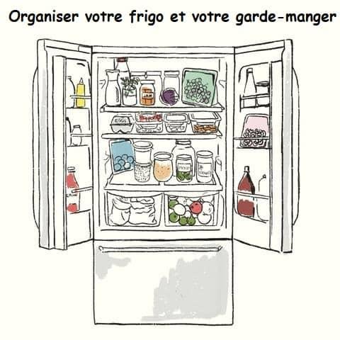 organiser votre frigo et votre garde-manger