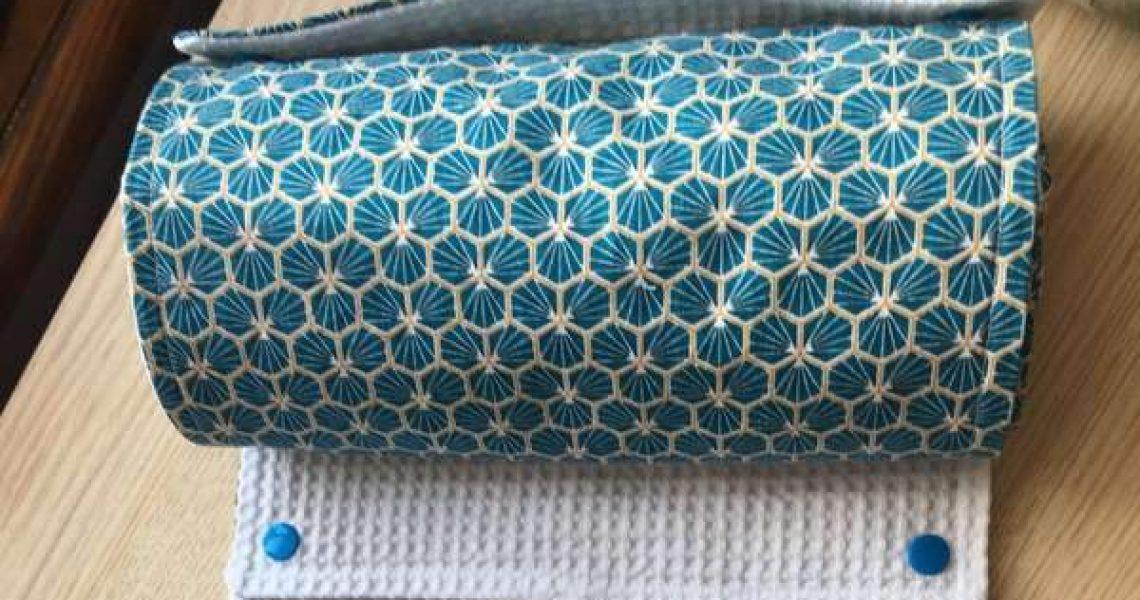 essuie-tout lavable bleu une article